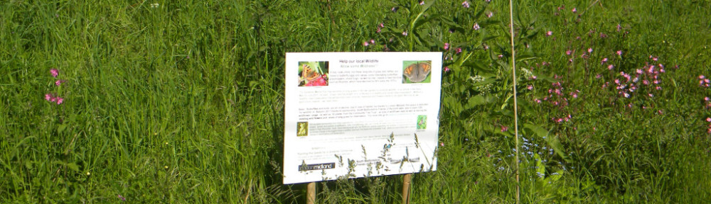 Wildlife habitat creation signpost